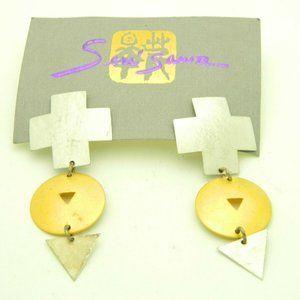 Sueo Serisawa Sterling Silver Modernist Earrings